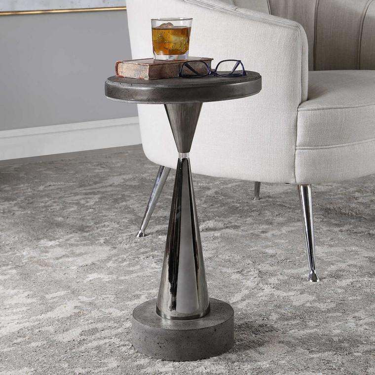 Simons Concrete Accent Table - Size: 56H x 30W x 30D (cm)