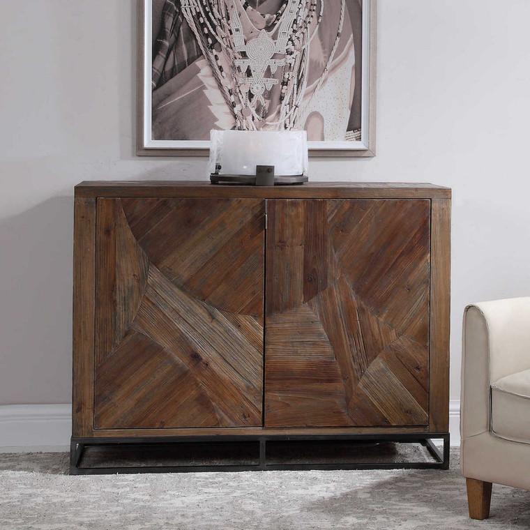 Evros Reclaimed Wood 2 Door Cabinet - Size: 99H x 132W x 46D (cm)