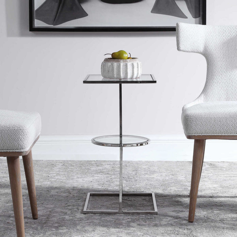 Kirby Modern Accent Table - Size: 64H x 36W x 36D (cm)