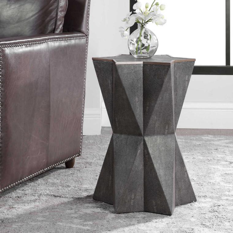 Capella Gray Accent Table - Size: 56H x 41W x 41D (cm)