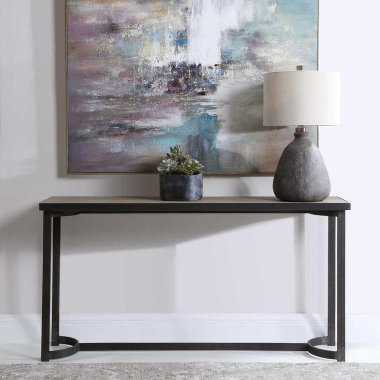 Basuto Steel Console Table - Size: 81H x 157W x 40D (cm)