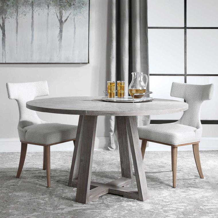 Gidran Gray Dining Table - Size: 76H x 132W x 132D (cm)
