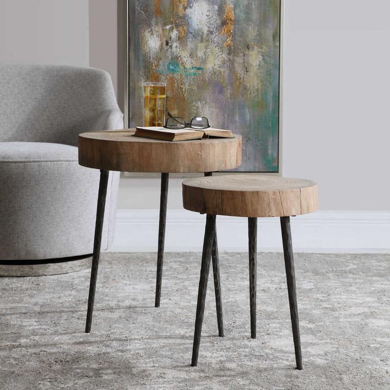 Samba Wood Nesting Tables Set/2 - Size: 56H x 46W x 47D (cm)