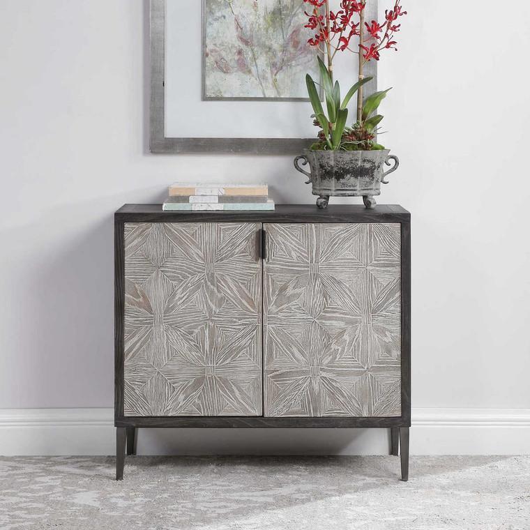 Laurentia 2 Door Accent Cabinet - Size: 86H x 93W x 36D (cm)