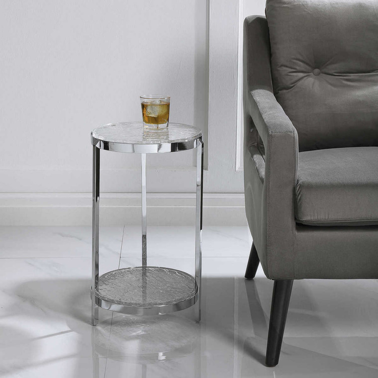 Clarence Accent Table - Size: 53H x 32W x 32D (cm)