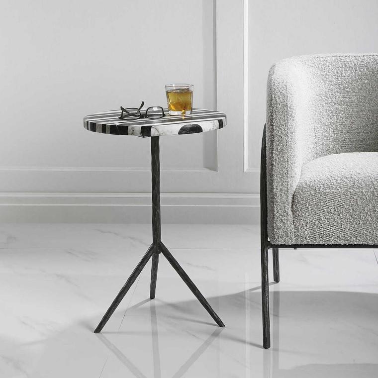 Fine Line Round Accent Table - Size: 60H x 41W x 41D (cm)