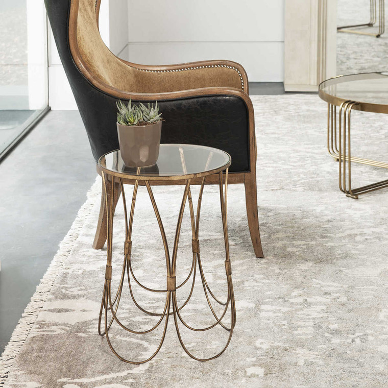 Kalindra Gold Accent Table - Size: 56H x 39W x 39D (cm)