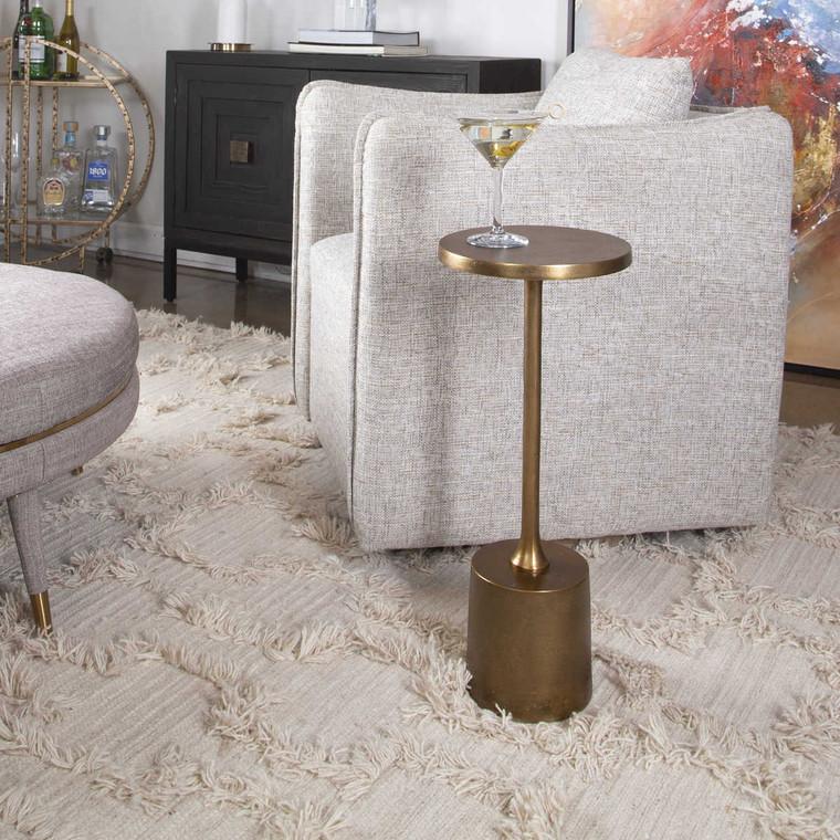Sanaga Drink Table Gold - Size: 62H x 25W x 25D (cm)