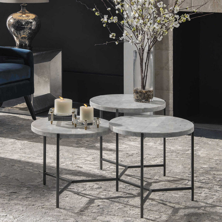 Contarini Tiered Coffee Table - Size: 46H x 97W x 86D (cm)