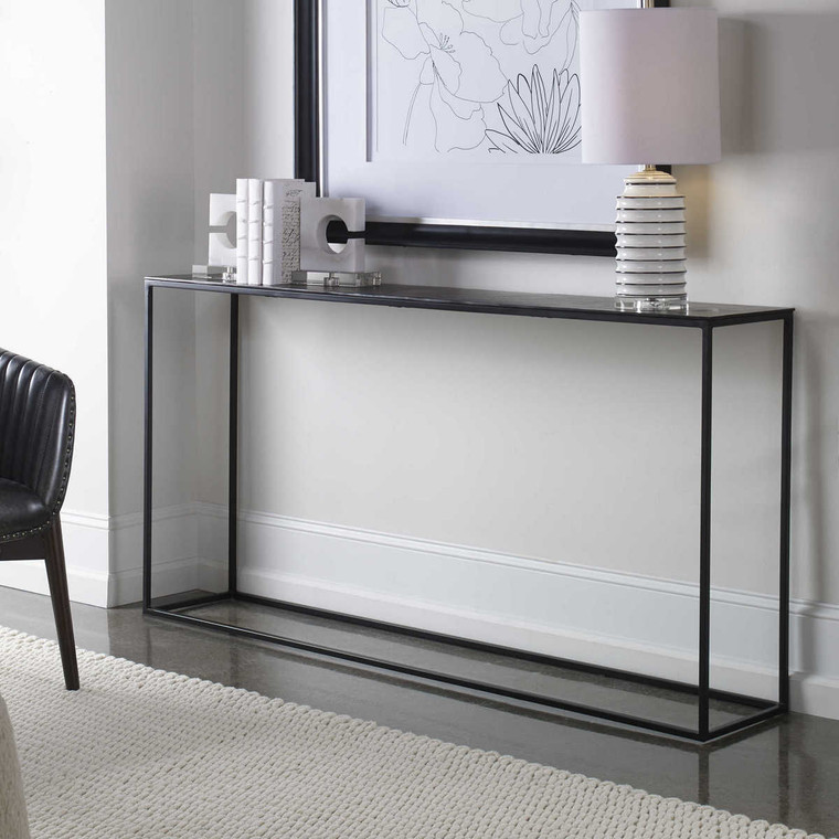 Coreene Large Industrial Console Table - Size: 81H x 163W x 30D (cm)