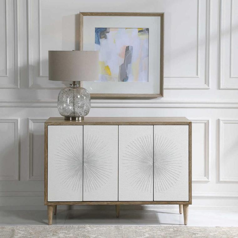 Dani 4 Door White Cabinet - Size: 87H x 122W x 46D (cm)