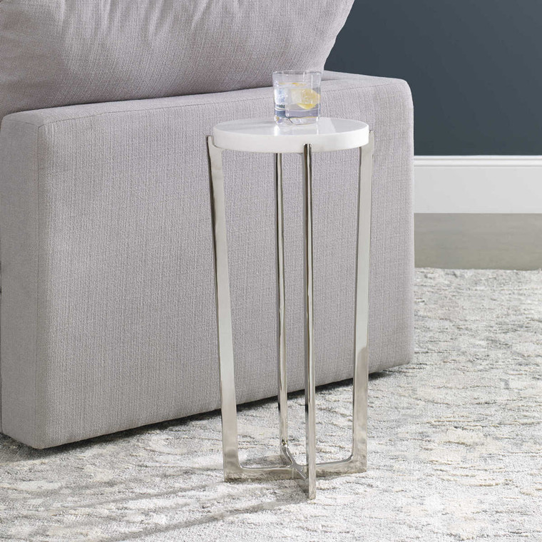 Waldorf Marble Drink Table - Size: 64H x 30W x 30D (cm)