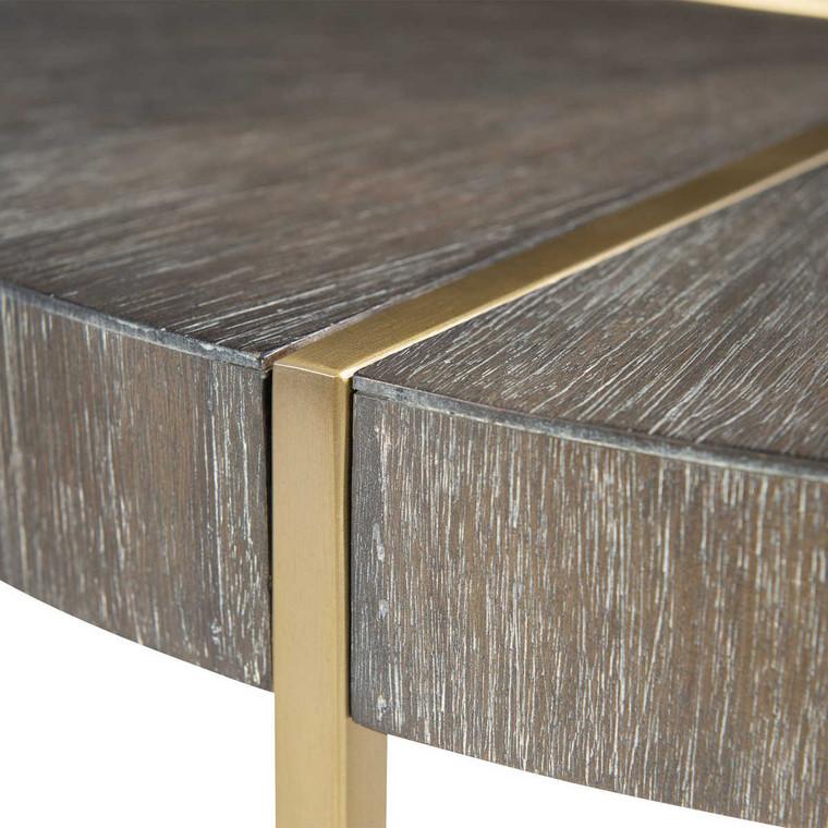 Taja Round Accent Table - Size: 61H x 51W x 51D (cm)