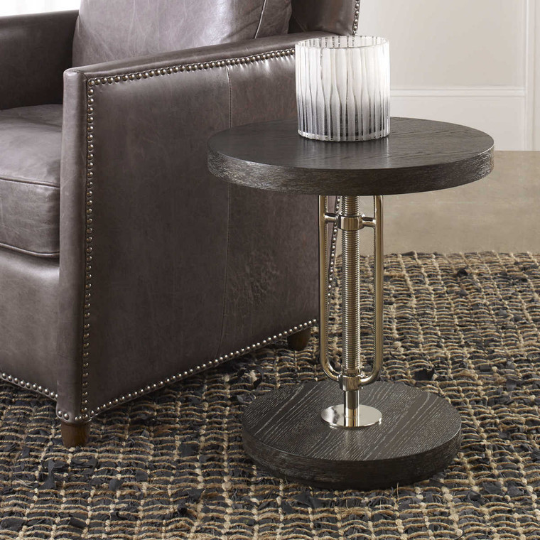 Emilian Adjustable Accent Table - Size: 74H x 46W x 46D (cm)