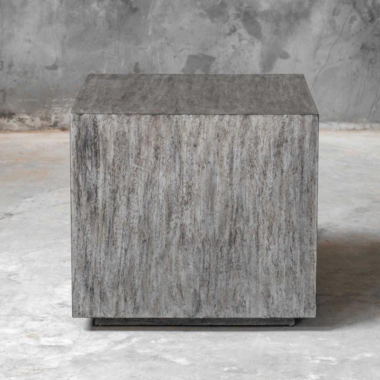 Kareem Modern Gray Side Table - Size: 56H x 61W x 61D (cm)