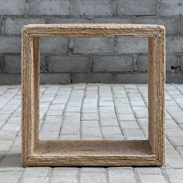 Rora Woven Accent Table - Size: 56H x 56W x 25D (cm)