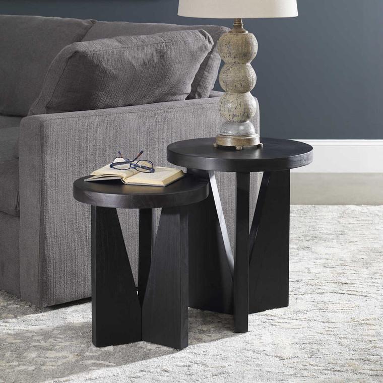Nadette Nesting Tables Set/2 - Size: 55H x 46W x 46D (cm)