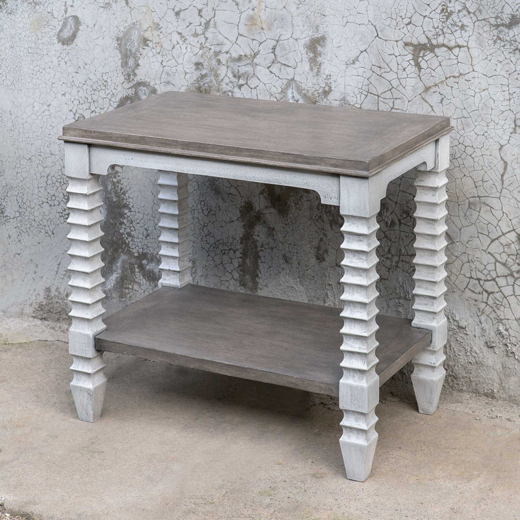 Calypso Side Table - Size: 65H x 69W x 42D (cm)