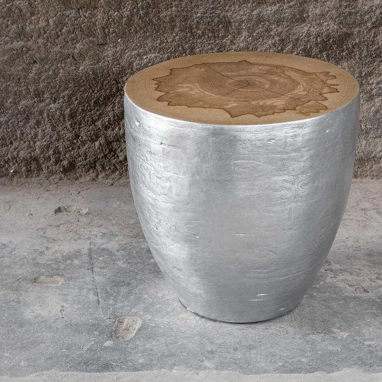 Gannett End Table - Size: 52H x 53W x 53D (cm)