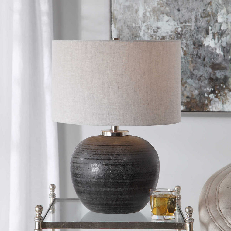 Mikkel Charcoal Table Lamp - Size: 55H x 41W x 41D (cm)