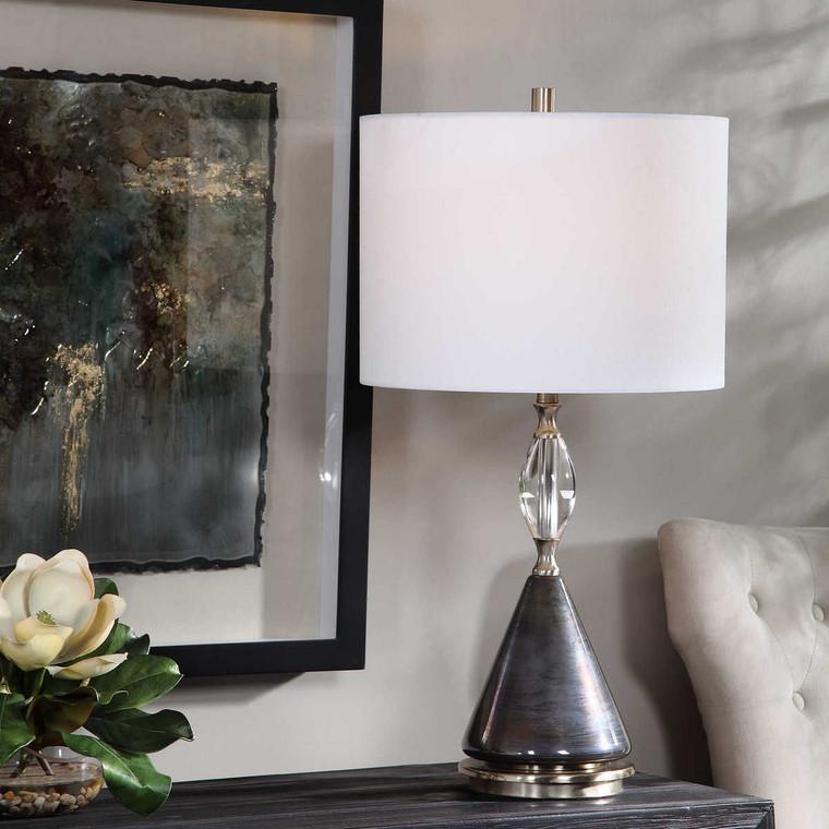 Cavalieri Dark Bronze Table Lamp - Size: 74H x 38W x 38D (cm)
