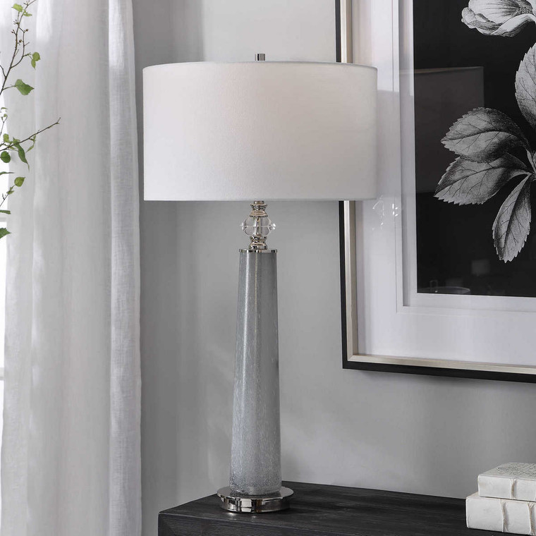 Grayton Frosted Art Table Lamp - Size: 84H x 43W x 43D (cm)