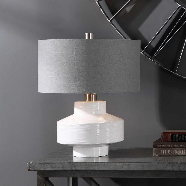 Crosby Mid-Century Table Lamp - Size: 49H x 41W x 41D (cm)