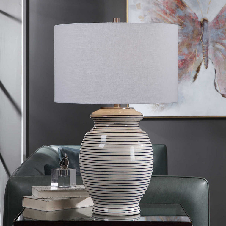 Marisa Off White Table Lamp - Size: 71H x 46W x 46D (cm)