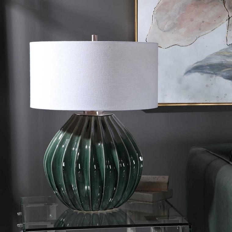 Rhonwen Green Table Lamp - Size: 69H x 51W x 51D (cm)