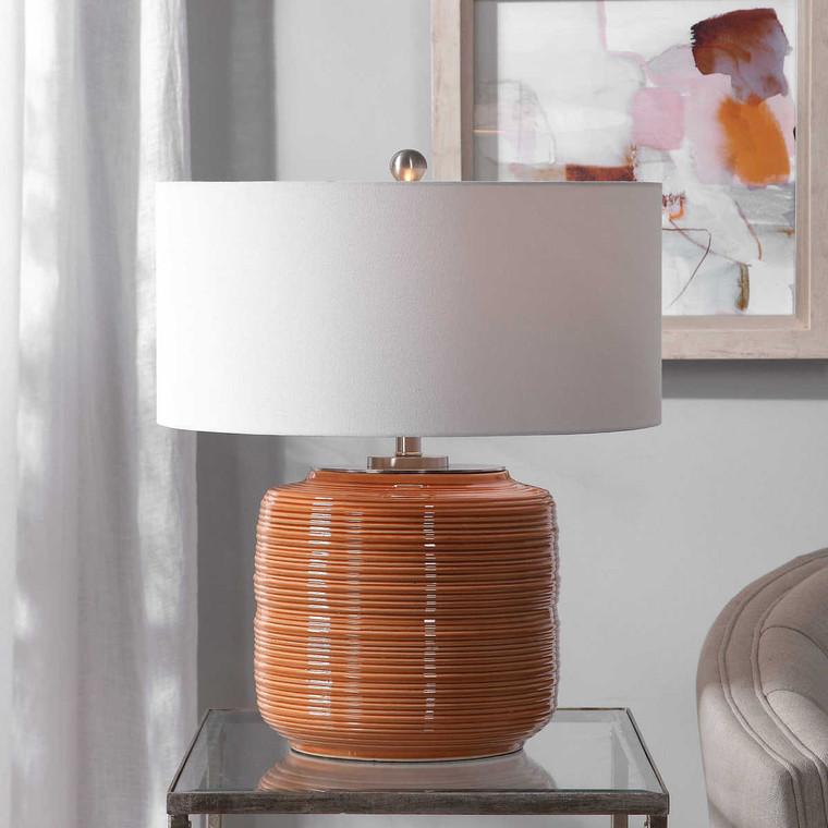 Solene Orange Table Lamp - Size: 60H x 51W x 51D (cm)