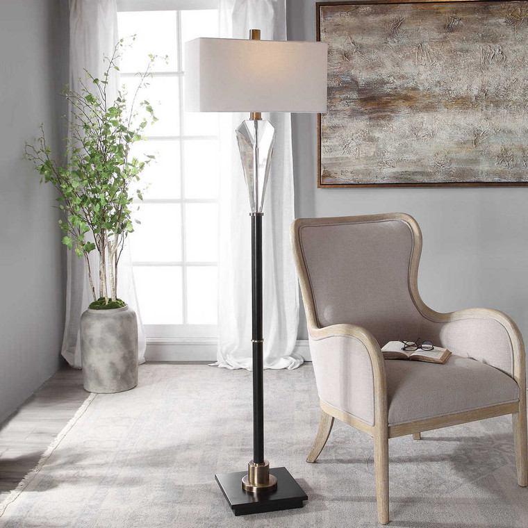 Cora Contemporary Floor Lamp - Size: 169H x 46W x 25D (cm)