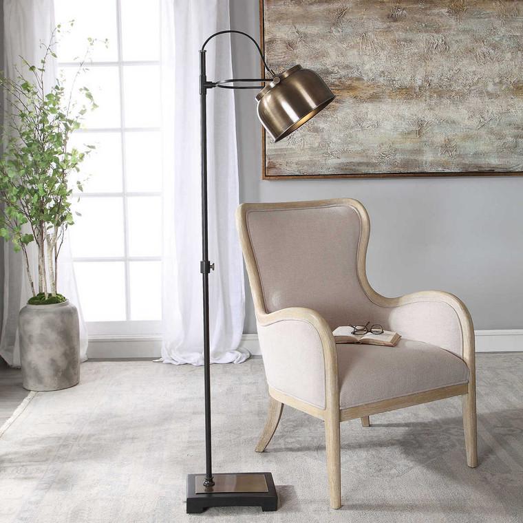 Bessemer Industrial Floor Lamp - Size: 157H x 53W x 25D (cm)