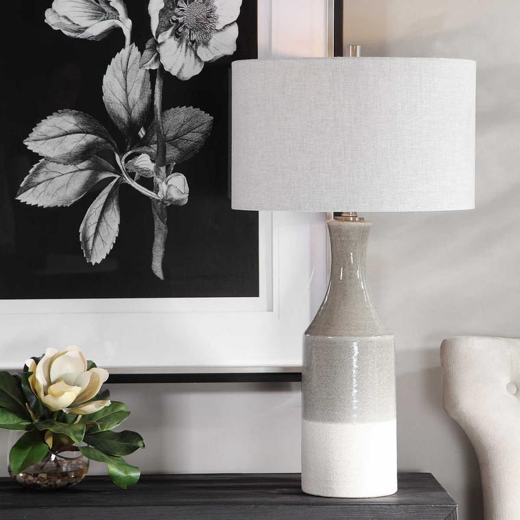 Savin Ceramic Table Lamp - Size: 79H x 43W x 43D (cm)