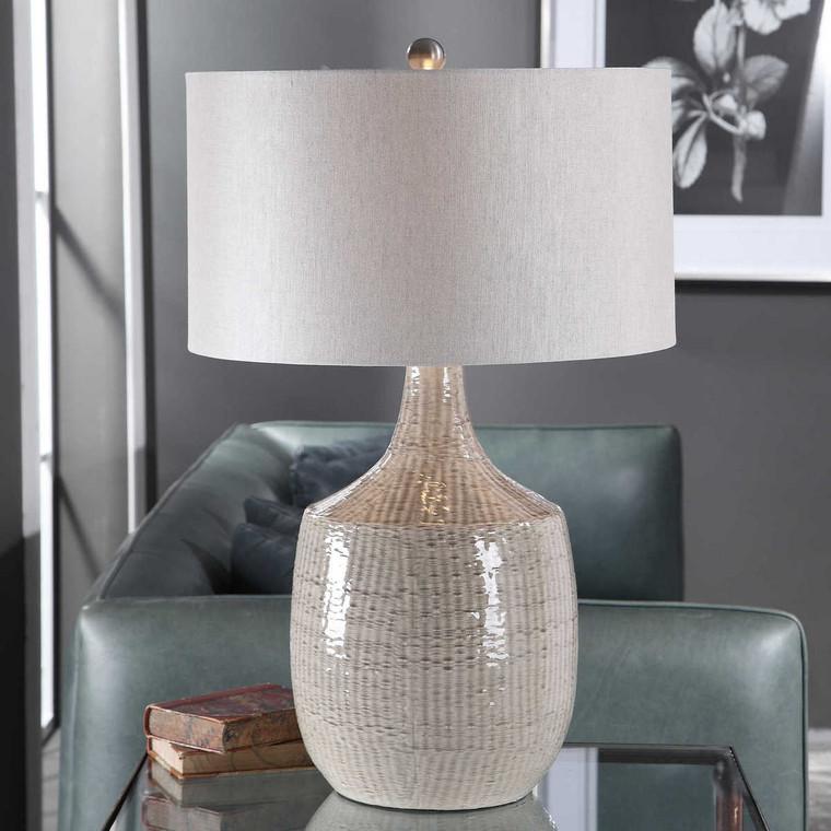 Felipe Gray Table Lamp - Size: 75H x 48W x 48D (cm)
