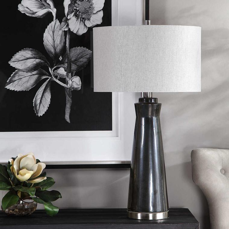Arlan Dark Charcoal Table Lamp - Size: 79H x 43W x 43D (cm)