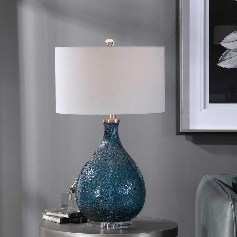 Eline Blue Glass Table Lamp - Size: 72H x 43W x 43D (cm)