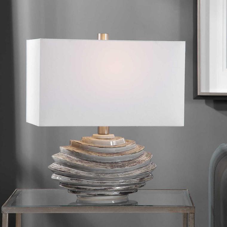 Talucah Gray Table Lamp - Size: 55H x 48W x 28D (cm)