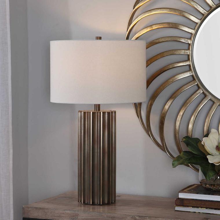 Khalio Gun Metal Table Lamp - Size: 70H x 41W x 41D (cm)