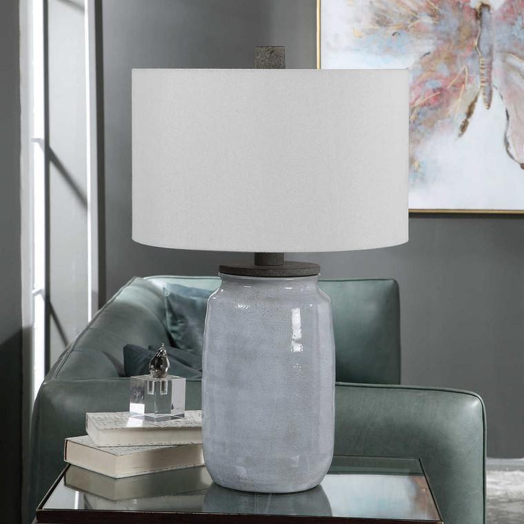 Dimitri Light Blue Table Lamp - Size: 71H x 46W x 46D (cm)