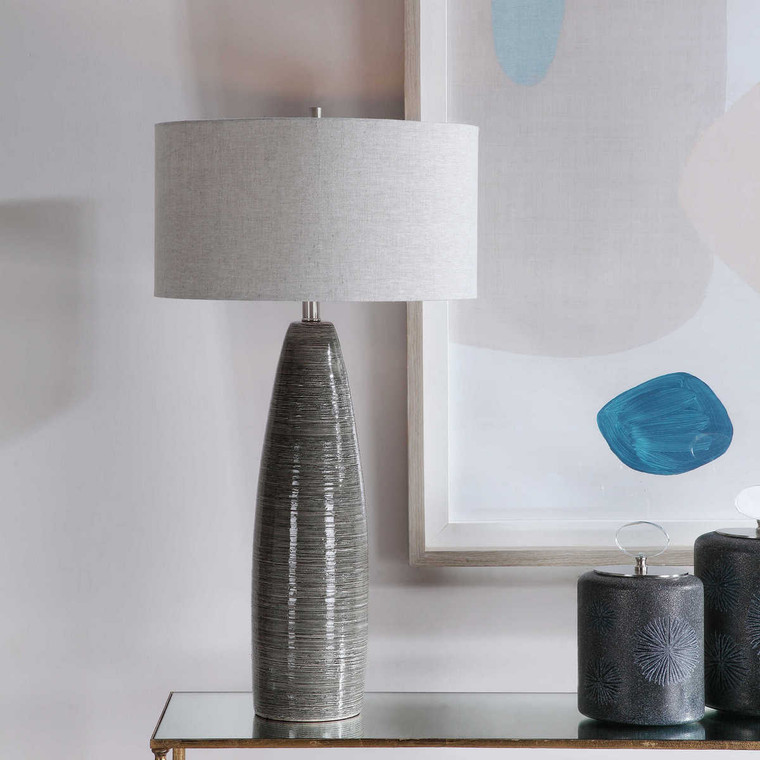 Cosmo Charcoal Table Lamp - Size: 86H x 46W x 46D (cm)