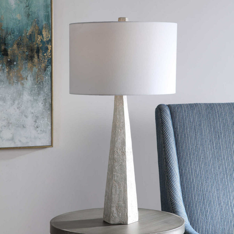 Apollo Concrete Table Lamp - Size: 83H x 43W x 43D (cm)