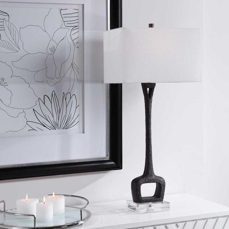 Darbie Iron Table Lamp - Size: 91H x 41W x 25D (cm)