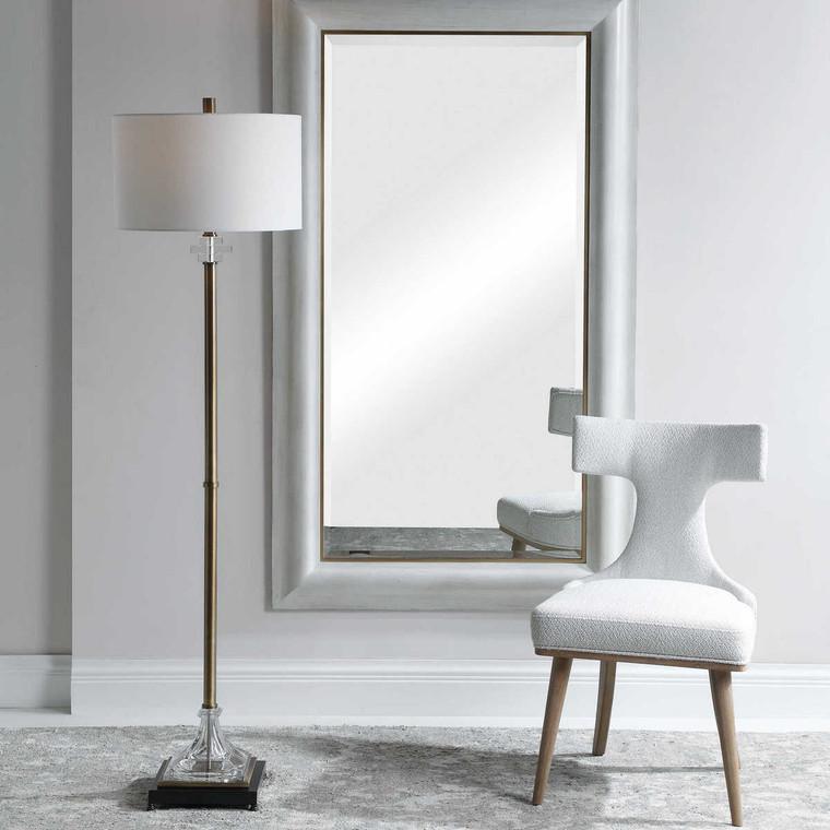 Rafferty Brass Floor Lamp - Size: 173H x 46W x 46D (cm)