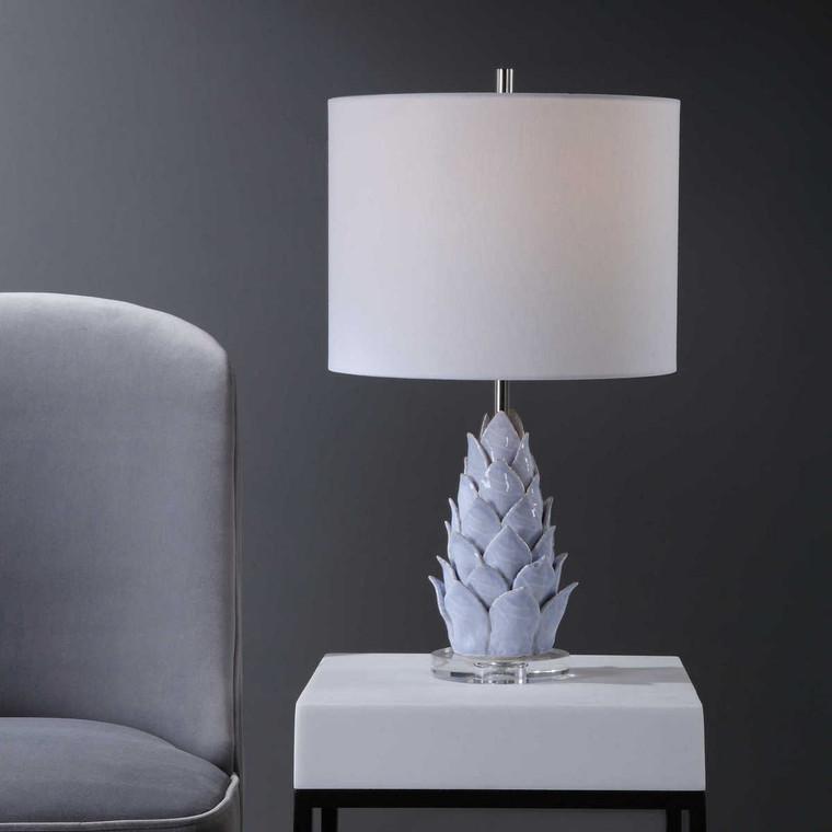 Fera Light Blue Accent Lamp - Size: 57H x 33W x 33D (cm)