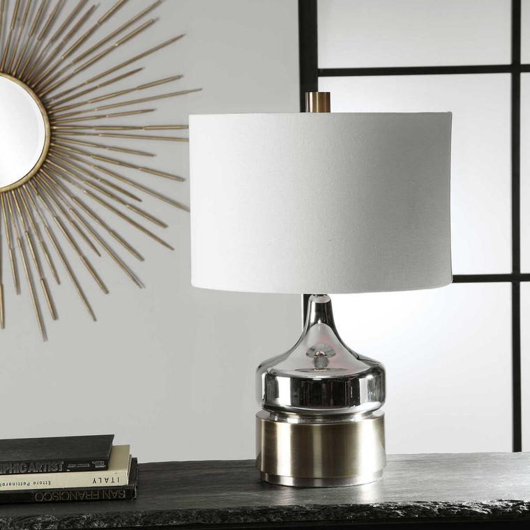 Como Chrome Table Lamp - Size: 58H x 39W x 39D (cm)