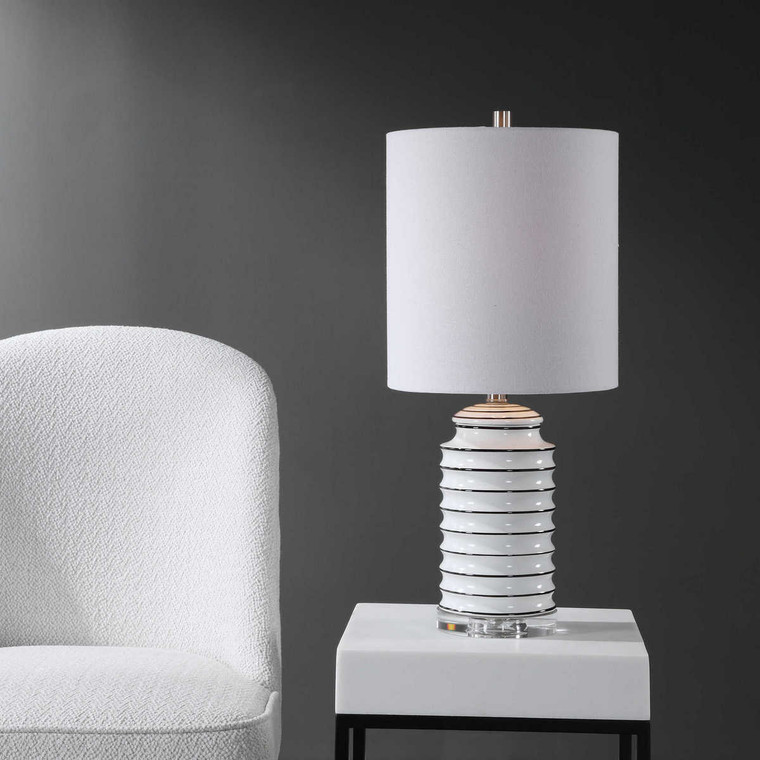 Rayas White Table Lamp - Size: 64H x 28W x 28D (cm)