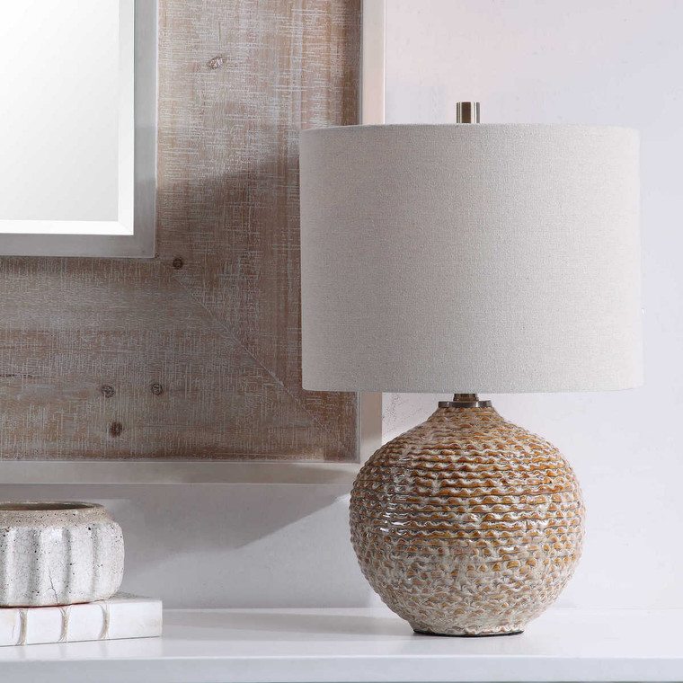 Lagos Rustic Table Lamp - Size: 56H x 36W x 36D (cm)