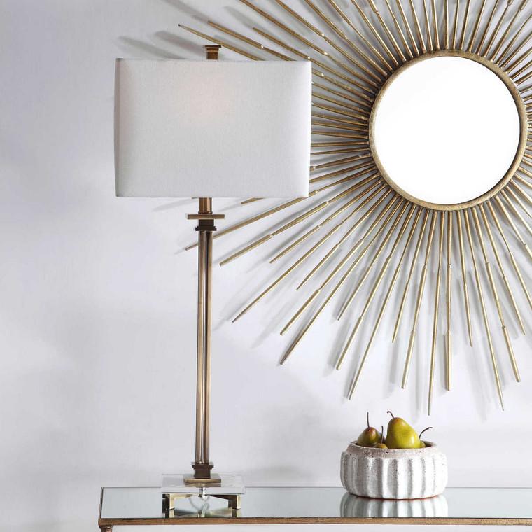 Phillips Brass Table Lamp - Size: 87H x 46W x 20D (cm)