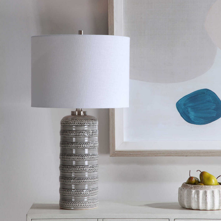 Alenon Light Gray Table Lamp - Size: 71H x 39W x 39D (cm)