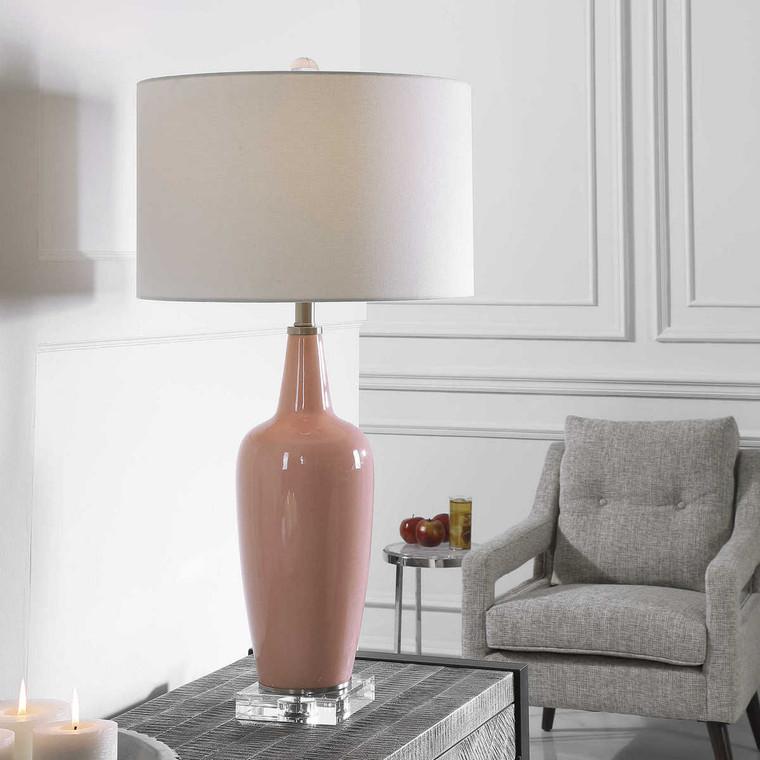 Anastasia Light Pink Table Lamp - Size: 84H x 43W x 43D (cm)